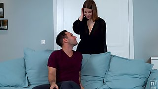 Curvy unsubtle is ready to please her baffle with the best fuck