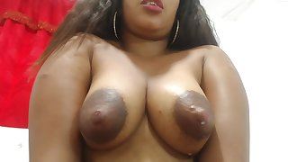 Sherezade milks the brush chest and masturbates - Latina in lactation fetish