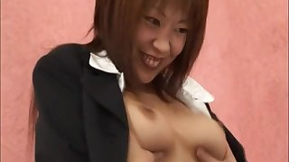 Uncensored motion picture of bore drilling and pussy fucking thither Kaede Oshiro