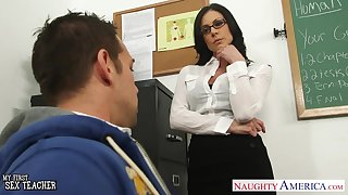 Shagging awesome teacher Kendra Lust is Shagging her favorite student Johnny Castle