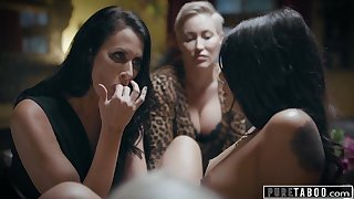 Lesbian Foursome Angry Stepmom Makes Teen Serve Dinner Naked - Pornstars