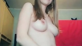 Lovely blonde showing her unmitigatedly hairy pussy