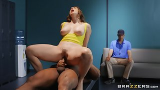 Chanel Preston gets her pussy fucked by dude's strong pecker