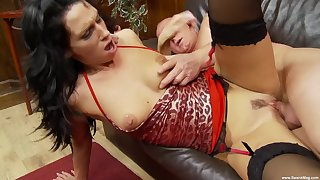 Passion B. screams from pleasure during the hard fuck with a dude