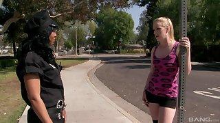 Passionate lesbian Anita Peida uses a dildo to please her girlfriend