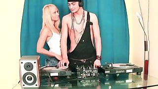 Cute Girl Sucking Huge Cock DJ and Fucking in the Party