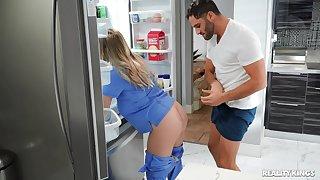 Criminal nurse Codi Vore enjoys having sex down a lucky specimen