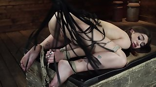 Dirty sunless loves being tied up and flogged hard