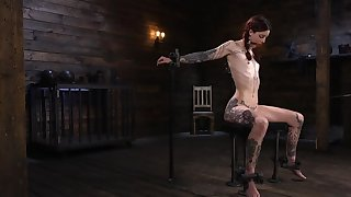 Skinny alt redhead properly dominated by a unreliable master